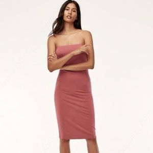 Wilfred free from Aritzia knit strapless dress